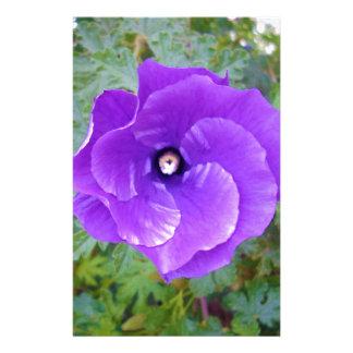 Purple Hibiscus Flower, Stationery