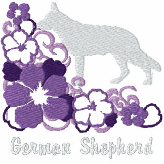Purple Hibiscus German Shepherd