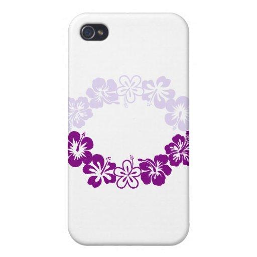 purple hibiscus lei garland iPhone 4 cover