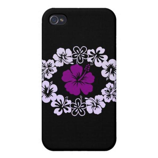 Purple Hibiscus Lei iPhone 4 Cases