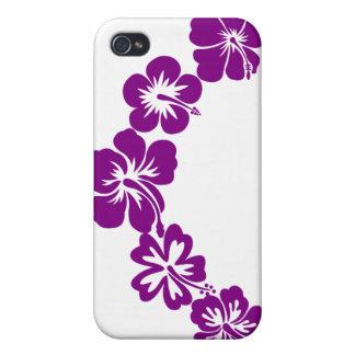 Purple hibiscus leis iPhone 4 cover