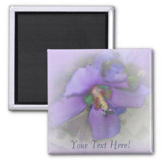 Purple Hibiscus Square Magnet
