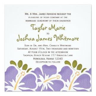 Purple Hibiscus Wedding Invitations