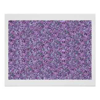 Purple  High Energy Color Theraphy Jewel Print