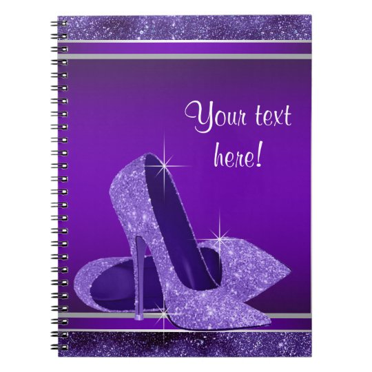 Purple High Heel Guest Book Spiral Notebook
