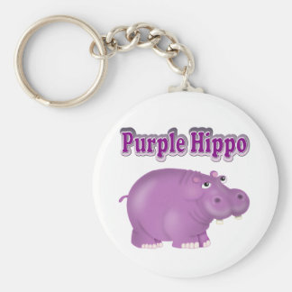 Purple Hippo Key Ring