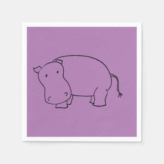 purple hippo napkin disposable napkin
