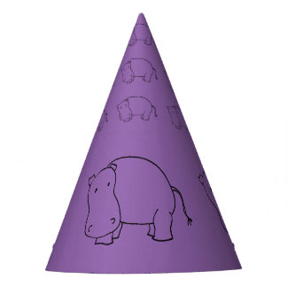purple hippo party hat