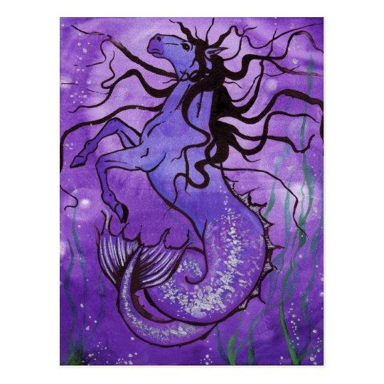 Purple Hippocamp Postcard