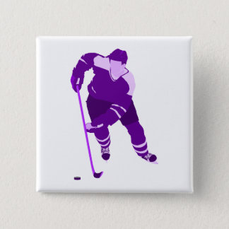 Purple Hockey Logo 15 Cm Square Badge