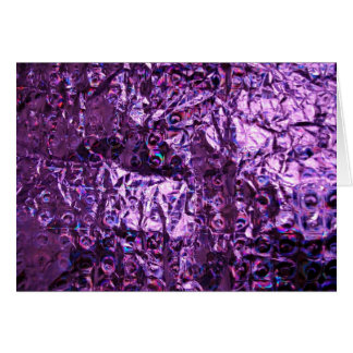 Purple Hologram Paper Greeting Card