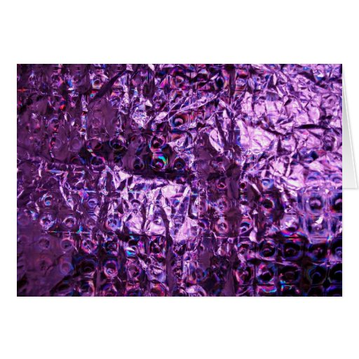 Purple Hologram Paper Greeting Card