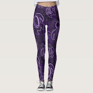 Purple Honu Leggings