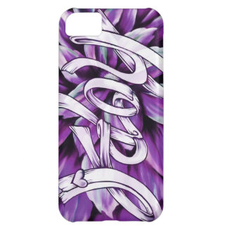 Purple hope floral pancreatic cancer awareness Art iPhone 5C Case