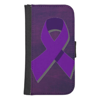 Purple Hope From the Darkness Samsung S4 Wallet Case