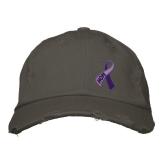 Purple Hope Spirit Day Ribbon Awareness Embroidered Hats