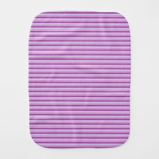 Purple Horizontal Stripes Burp Cloth
