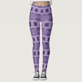 Purple Horizontal Stripes Leggings