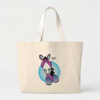 Purple Horse Hay! Large Tote Bag