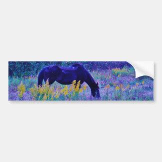 Purple Horse in Rainbow field Bumper Sticker