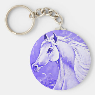 Purple Horse Key Chain