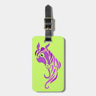 Purple Horse Luggage Tag