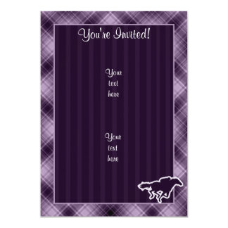 Purple Horse Racing 13 Cm X 18 Cm Invitation Card