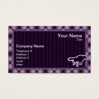 Purple Horse Racing Business Card