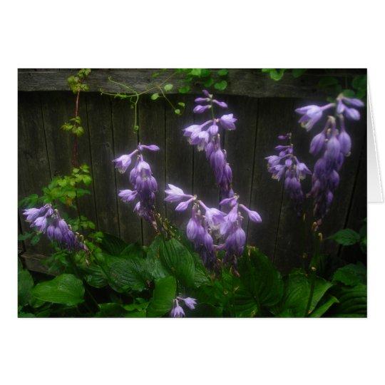 Purple Hosta Florets Card
