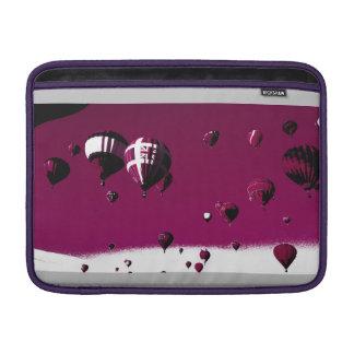 Purple Hot Air Balloons Macbook Pro Sleeve
