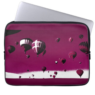 Purple Hot Balloon Art Poster Laptop Case Computer Sleeves