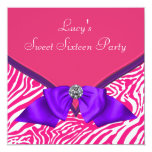Purple Hot Pink Zebra Sweet 16 Birthday Party
