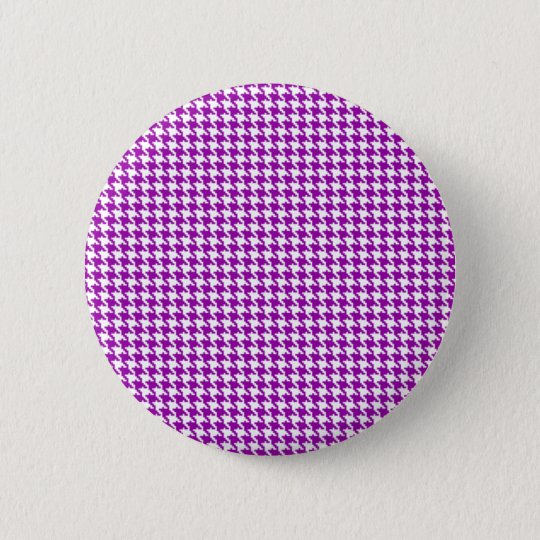 Purple Houndstooth Pattern 6 Cm Round Badge
