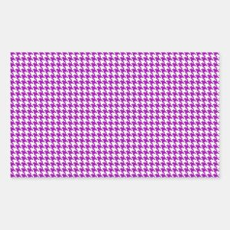 Purple Houndstooth Pattern Rectangular Sticker