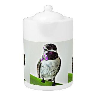 Purple Hummeringbird Medium Teapot