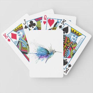 PURPLE HUMMINGBIRD BICYCLE PLAYING CARDS