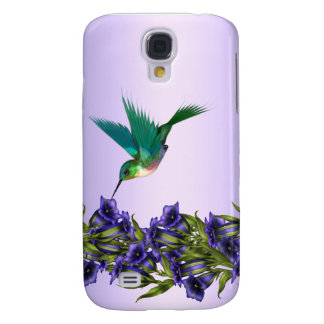 Purple Hummingbird i Galaxy S4 Case