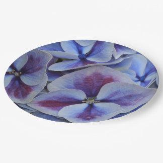 Purple Hydrangea 9 Inch Paper Plate