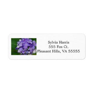 Purple Hydrangea Address Labels