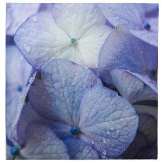 Purple Hydrangea Blossom Floral Napkin