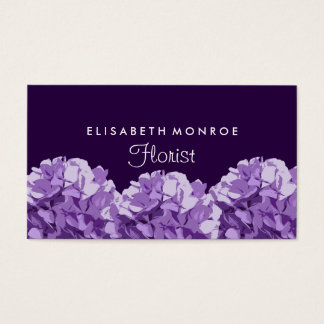 Purple Hydrangea Floral, Florist Business Card