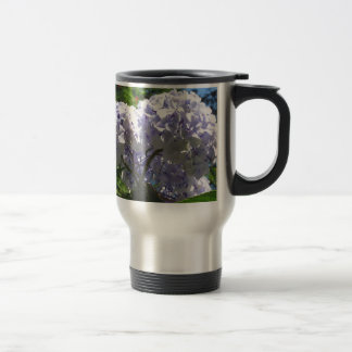 Purple Hydrangea flowers (Hydrangea macrophylla) Stainless Steel Travel Mug