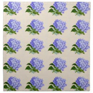 Purple Hydrangea Flowers Vintage Pattern Napkin