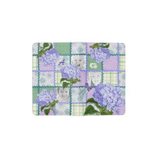 Purple Hydrangea Instagram Photo Quilt Collage Pocket Moleskine Notebook