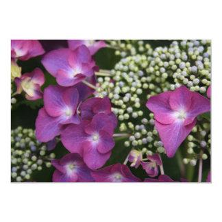 Purple Hydrangea  Invitation 13 Cm X 18 Cm Invitation Card