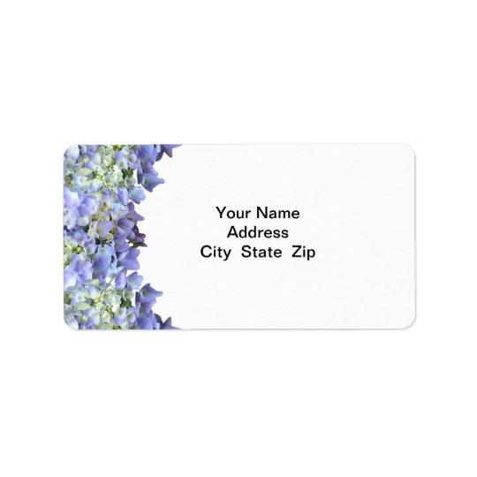 Purple Hydrangea Label