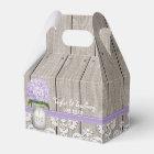 Purple Hydrangea Mason Jar Wedding Favour Gift Box