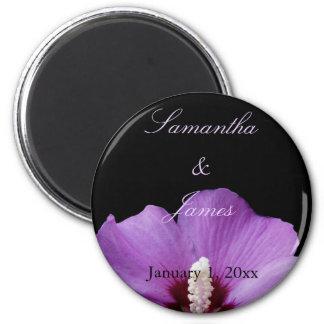 Purple Hydrangea Personal Wedding Magnet