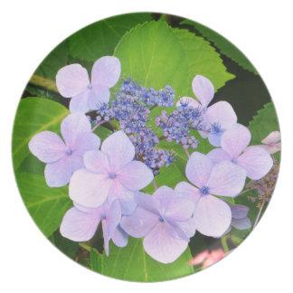 Purple Hydrangea plate