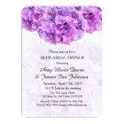 Purple hydrangea rehearsal dinner hydrangea4 card